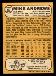 1968 Topps #502   Mike Andrews Back Thumbnail