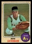 1968 Topps #422  Rene Lachemann  Front Thumbnail