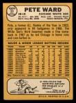 1968 Topps #33   Pete Ward Back Thumbnail