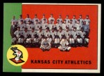 1963 Topps #397   Athletics Team Front Thumbnail