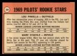 1969 Topps #394  Pilots Rookies  -  Lou Piniella / Marv Staehle Back Thumbnail