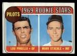 1969 Topps #394  Pilots Rookies  -  Lou Piniella / Marv Staehle Front Thumbnail