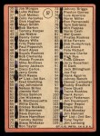 1969 Topps #57 A  -  Denny McLain Checklist 1 Back Thumbnail