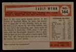 1954 Bowman #164  Early Wynn  Back Thumbnail