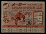1958 Topps #113   Jerry Walker Back Thumbnail