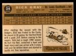 1960 #24  Dick Gray  Back Thumbnail