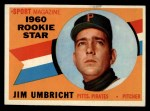 1960 Topps #145  Rookies  -  Jim Umbricht Front Thumbnail