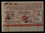 1958 Topps #466   Pete Whisenant Back Thumbnail