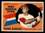 1960 Topps #130   -  Frank Herrera Rookies Front Thumbnail