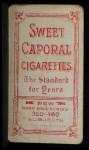 1909 T206 #353 POR Red Murray  Back Thumbnail