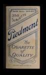 1909 T206 #476 WAS Jesse Tannehill  Back Thumbnail