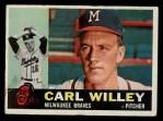 1960 Topps #107   Carlton Willey Front Thumbnail