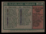 1975 Topps Mini #331  Indians Team Checklist  -  Frank Robinson Back Thumbnail