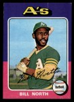 1975 Topps Mini #121   Bill North Front Thumbnail