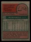 1975 Topps Mini #128   Bill Lee Back Thumbnail
