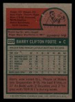 1975 Topps Mini #229   Barry Foote Back Thumbnail