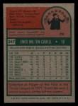1975 Topps Mini #247   Enos Cabell Back Thumbnail