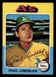 1975 Topps Mini #278   Paul Lindblad Front Thumbnail