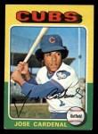 1975 Topps Mini #15  Jose Cardenal  Front Thumbnail