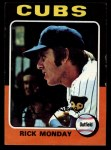 1975 Topps Mini #129  Rick Monday  Front Thumbnail