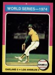 1975 Topps #463  1974 World Series - Game #3  -  Rollie Fingers Front Thumbnail