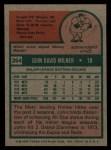 1975 Topps #264  John Milner  Back Thumbnail