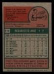 1975 Topps Mini #114   Dick Lange Back Thumbnail