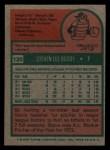 1975 Topps Mini #120  Steve Busby  Back Thumbnail