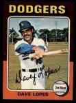 1975 Topps #93   Davey Lopes Front Thumbnail