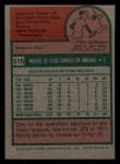 1975 Topps Mini #515   Manny Sanguillen Back Thumbnail
