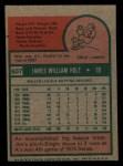 1975 Topps Mini #607   Jim Holt Back Thumbnail