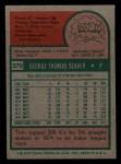 1975 Topps Mini #370   Tom Seaver Back Thumbnail