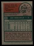 1975 Topps #382   Don Baylor Back Thumbnail