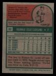 1975 Topps #32   Reggie Cleveland Back Thumbnail
