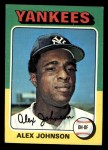 1975 Topps Mini #534   Alex Johnson Front Thumbnail
