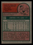 1975 Topps Mini #557   Larry Gura Back Thumbnail