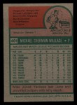 1975 Topps Mini #401   Mike Wallace Back Thumbnail