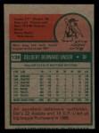 1975 Topps Mini #138   Del Unser Back Thumbnail