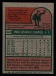 1975 Topps Mini #224  Ramon Hernandez  Back Thumbnail