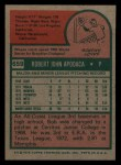 1975 Topps Mini #659   Bob Apodaca Back Thumbnail