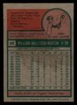 1975 Topps Mini #66   Willie Horton Back Thumbnail