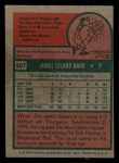 1975 Topps Mini #107   Jim Barr Back Thumbnail