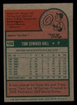 1975 Topps Mini #108  Tom Hall  Back Thumbnail