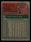 1975 Topps Mini #110   Wilbur Wood Back Thumbnail