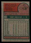 1975 Topps Mini #119  Tommy Helms  Back Thumbnail