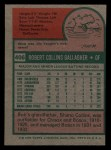 1975 Topps Mini #406   Bob Gallagher Back Thumbnail