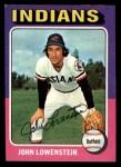 1975 Topps Mini #424   John Lowenstein Front Thumbnail