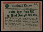 1975 Topps Mini #5   Nolan Ryan Back Thumbnail