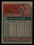 1975 Topps Mini #94   Jim Lonborg Back Thumbnail