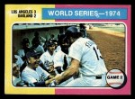 1975 Topps Mini #462  1974 World Series - Game #2  -  Walter Alston / Joe Ferguson Front Thumbnail